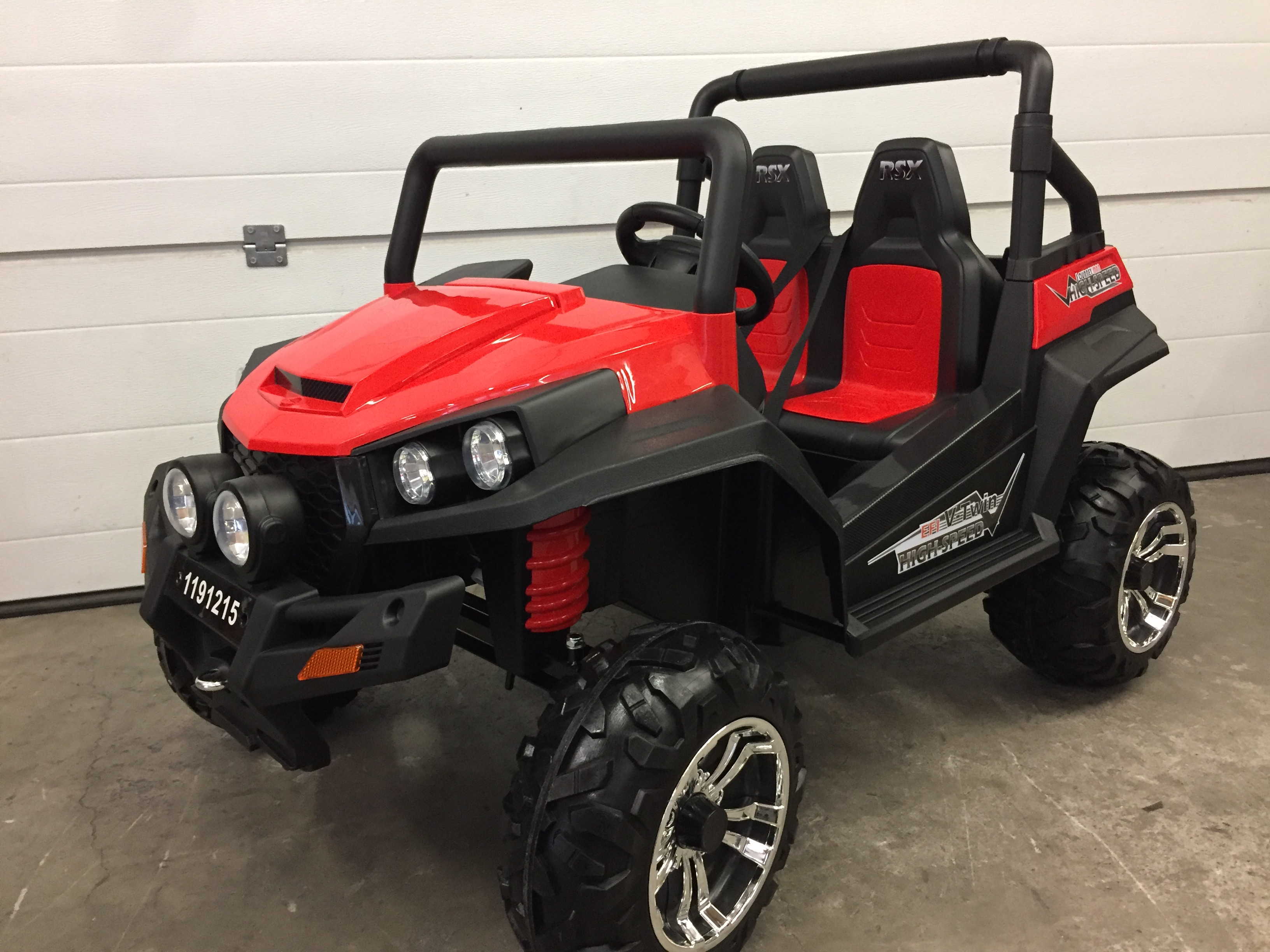 Buggy électrique V-TWIN 4×4 (2 places) - rouge