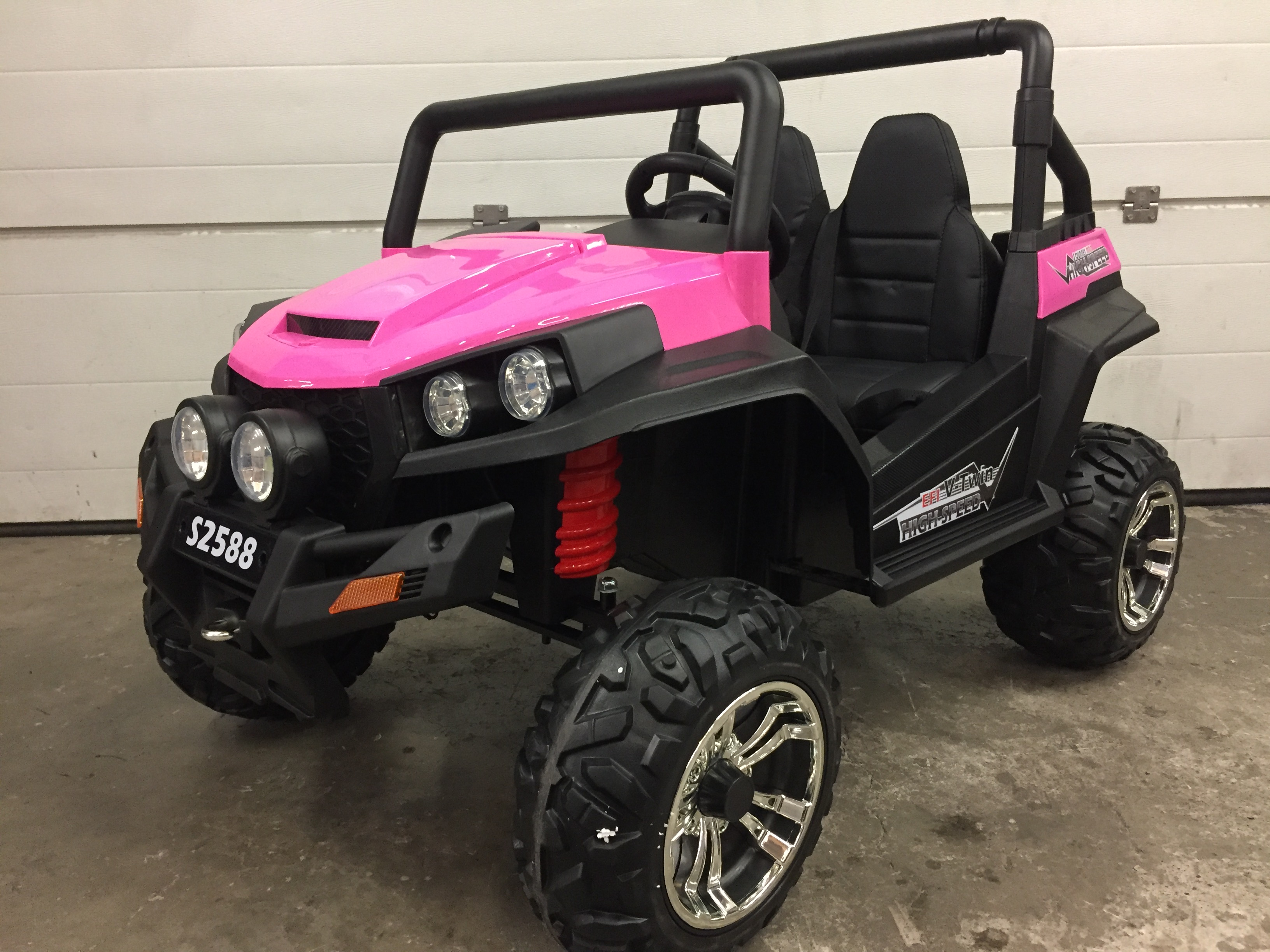 Buggy électrique V-TWIN 4×4 (2 places) - rose