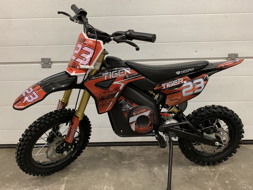 Moto TIGER 1000W 36V 12/10 POUCES - orange
