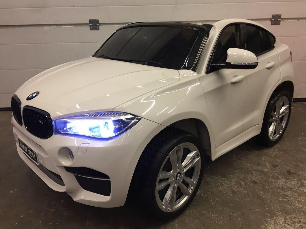 Gcautos Voiture Electrique Bmw X6 M 2 Places Blanc